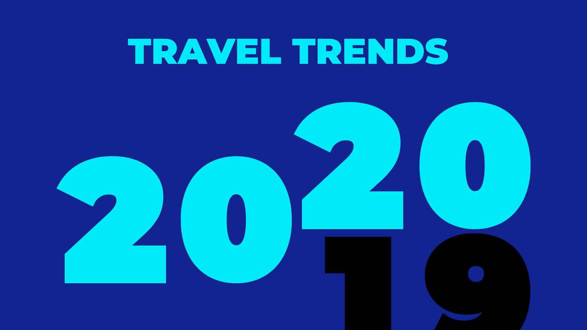 Travel Trends in 2020